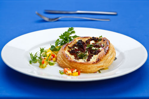 Feta marjoram and tomato galettes recipe