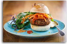 Vegan brazil nut burger