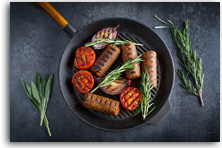 Vegan sweet potato and sage sausages