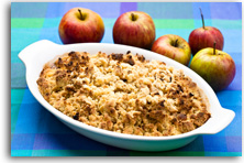 Pear and Bramley crumble recipe