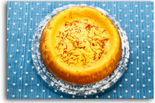 Baked orange cranberry and saffron cheesecake recipe