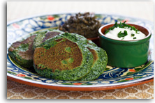 Spinach blinis recipe