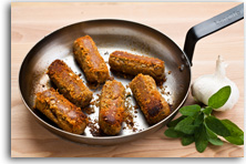 Veggie sausages with sage and mature cheddar recipe